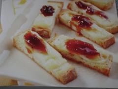 Crostini al pecorino e mostarda