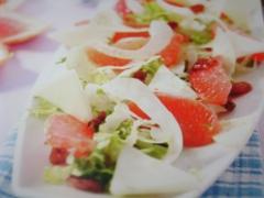 Ricetta insalata di finocchi, asiago e pompelmo