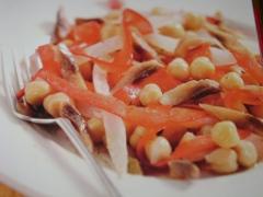 Ricetta insalata rustica di ceci, aringa e rape