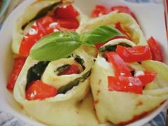 Ricetta crepe con ricotta e pomodori