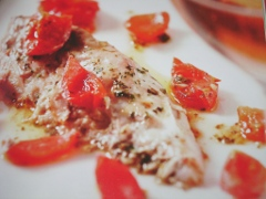 Ricetta del filetto di tonno al forno con pomodorini