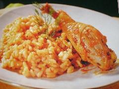 Ricetta gallina con riso al pomodoro