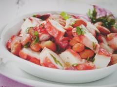Ricetta insalata di polpo con fagioli borlotti