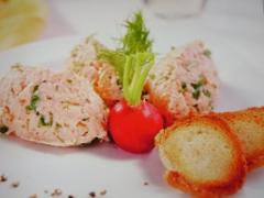 Ricetta del pasticcio di salmone e rucola con crostini dorati