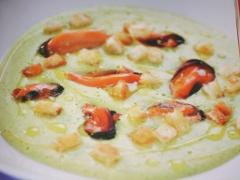 Ricetta vellutata di zucchine con cozze