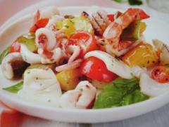 Ricetta insalata di mare colorata