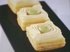 Ricetta dolci millefoglie al limone e pistacchio
