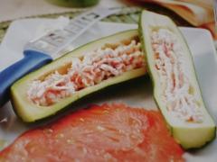 Ricetta piatto unico zucchine ripiene di mousse al salmone affumicato