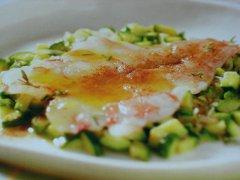 ricetta-facile-e-veloce-carpaccio-di-gamberi-con-paprika-e-zucchine