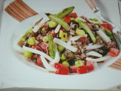 ricetta-facile-e-veloce-riso-selvaggio-con-asparagi-e-totani-piccanti