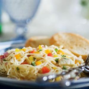 ricetta facile e veloce tagliolini al peperoncino con polpo e olive