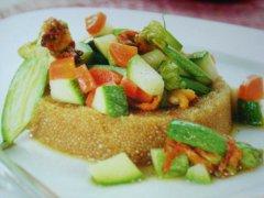 ricetta-facile-e-veloce-amaranto-con-verdure-e-mandorle
