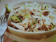 ricetta-facile-e-veloce-grano-con-zucchine-pollo-e-cipollotto