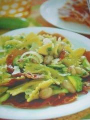 ricetta-facile-e-veloce-farfalle-con-zucchine-e-fagioli