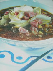 ricetta facile e veloce zuppa di lenticchie belga e cotechino