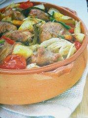 ricetta facile e veloce agnello nel coccio con patate e cipolle