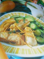 ricetta facile e veloce nasello all'arancia con zucchine