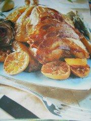ricetta facile e veloce pollo al mandarino con carciofi