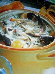 ricetta facile e veloce zuppa alle cozze