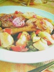 ricetta facile e veloce cosce di pollo con patate alla birra