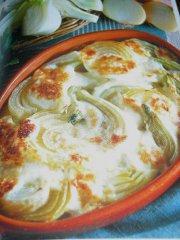ricetta facile e veloce finocchi e cipolle al gratin