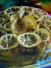 ricetta facile e veloce torta con fettine di limone caramellate