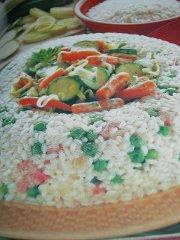 ricetta facile e veloce corona vegetariana