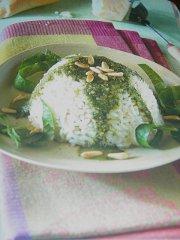 ricetta facile e veloce cupolette di riso al pesto di zucchine