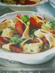 ricetta facile e veloce tagliatelle di frittata al basilico