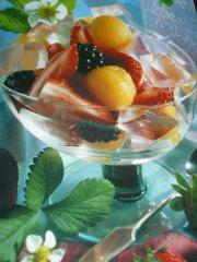 ricetta facile e veloce coppe con gelatina al rosolio