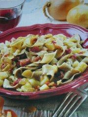 ricetta facile e veloce tagliatelle di segale con patate e pancetta