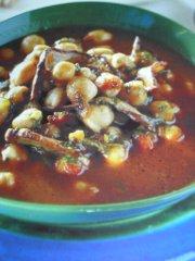 ricetta facile e veloce zuppa di ceci agli aromi