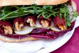 ricetta facile e veloce panino bresaola e noci