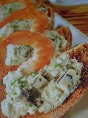 ricetta facile e veloce crostone gamberi e gorgonzola