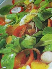 ricetta facile e veloce valeriana e arance