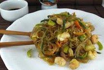 ricetta facile e veloce spaghetti di soia con gamberi