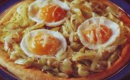 ricetta facile e veloce pizza all'uovo