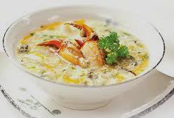 ricetta facile e veloce zuppa di granchio